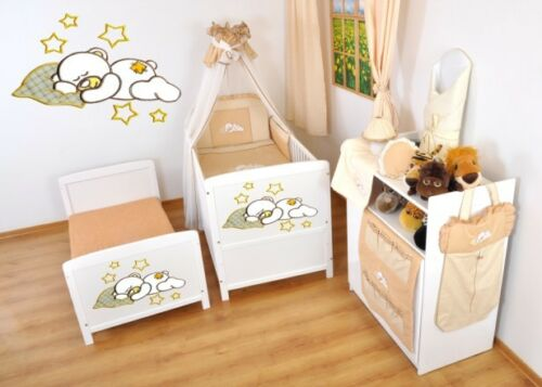Kinderbett Juniorbett 120x60 3x1 Neu 3-teiliges Bettset mit Stickeree nr 16