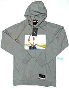 Details about Nike Air Jordan He Got Game Hoodie Mens Grey White Pullover AV6352 091 NWT