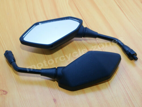 Black Rearview Side Mirror For Motorcycle Scooters ATV Chopper Cruiser Custom