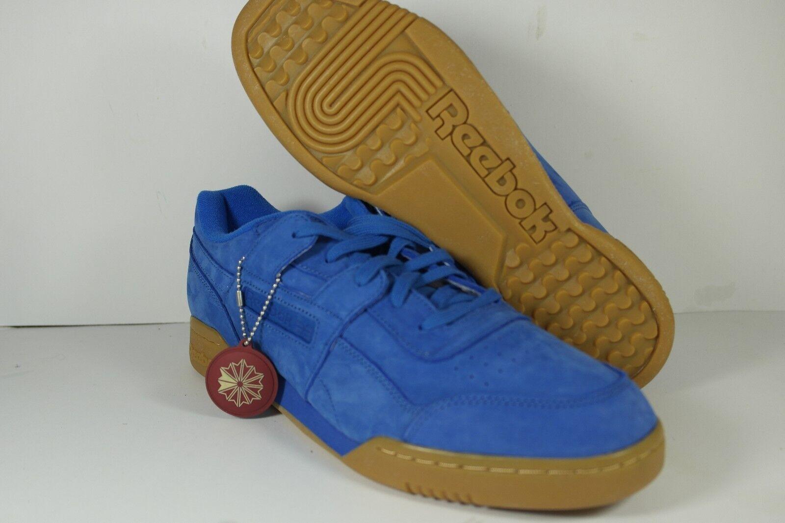 Reebok x Packer Shoes Workout Plus Blue Suede