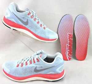 pas cher pour réduction 8e14b f2d9e Details about Nike Lunarglide 4+ Shield H2O Repel Running Shoes Blue Tint  Slv Crimson US 12