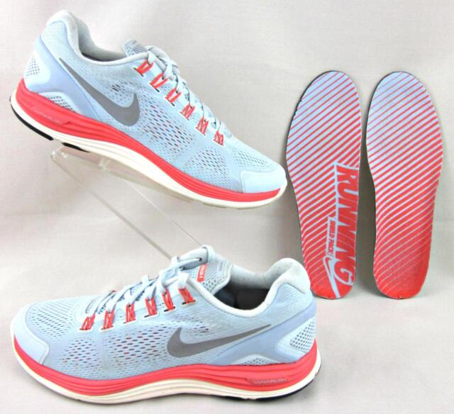 newest 0bb1b 4b9d9 Nike Lunarglide 4+ Shield H2O Repel Running Shoes Blue Tint Slv Crimson US  12