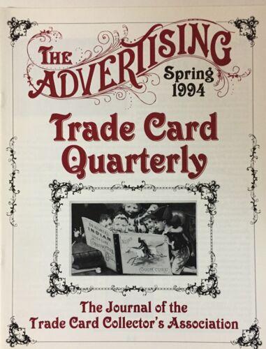 Set of 4 Advertising Trade Card Quarterly Journals 1994 Trade Card Assn