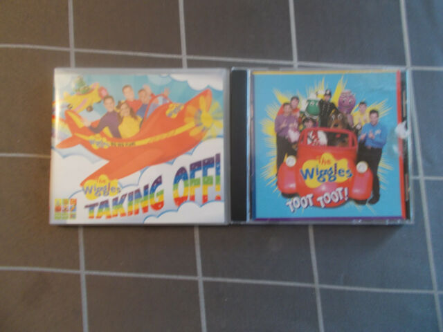 WIGGLES TOOT TOOT plus WIGGLES TAKING OFF CD's