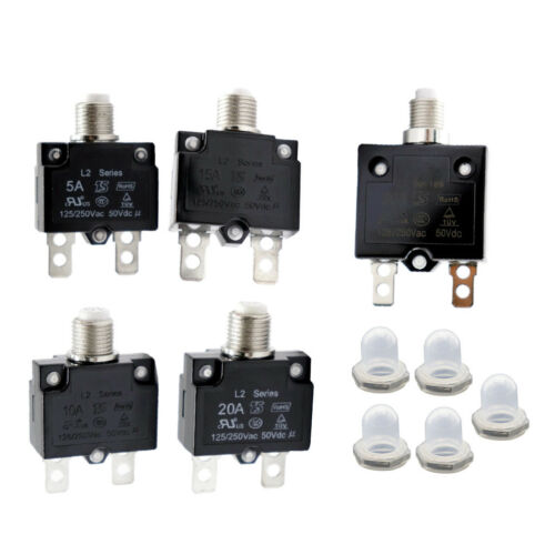 125//250V 5A-30A Switch Push Reset Button Circuit Breaker Overload Protector