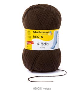 Regia 4-ply 100g calcetín lana a máquina lavable color 02905 mocca
