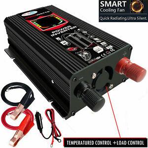 3000W-6000W Power Inverter DC12V To AC110V//220V Dual USB Charger Ports Converter