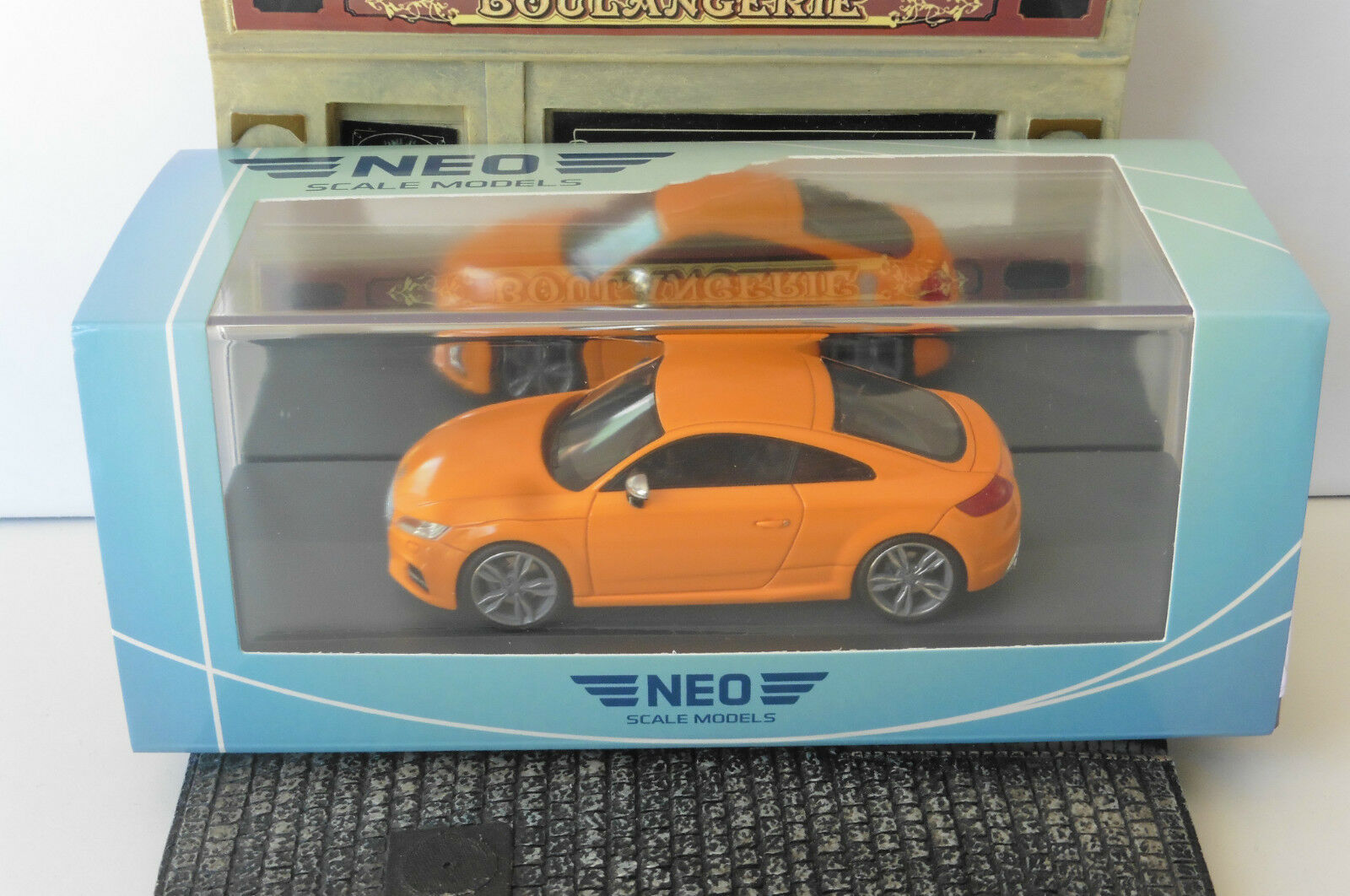 AUDI TTS COUPE arancia 2014 NEO 46405 1 43 BAUJAHR LEFT HAND DRIVE LHD RESIN