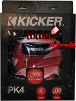 Kicker Pk4 4-gauge 2-channel P-series Full-spec Amplifier Power Kit 1500w Max