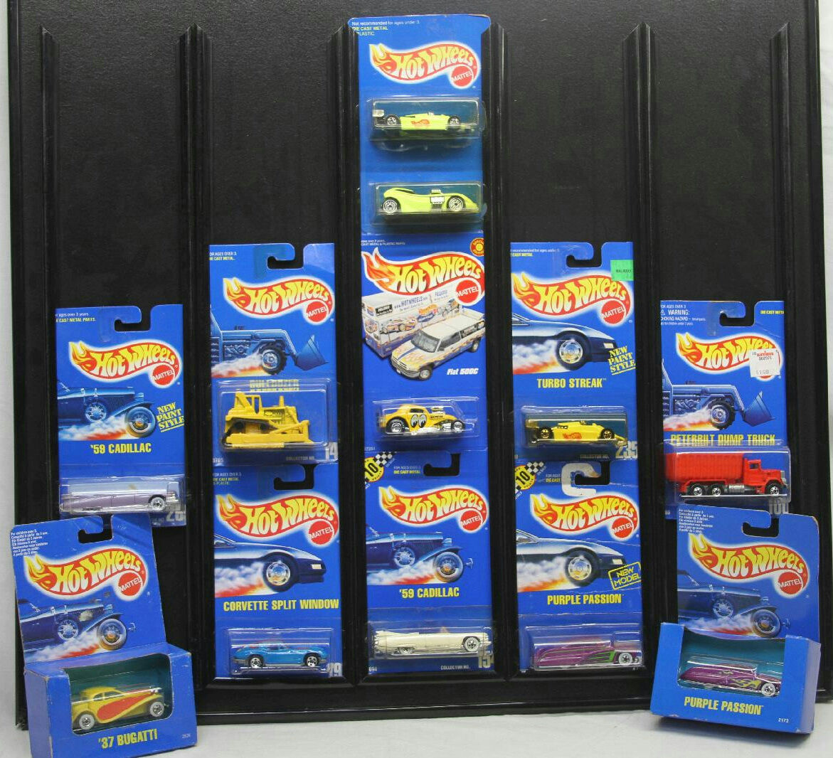 HOT WHEELS 11 ASSORTED DIECAST CARS BUGATTO FIAT 500C TURBO STREAK 1 64 NEW