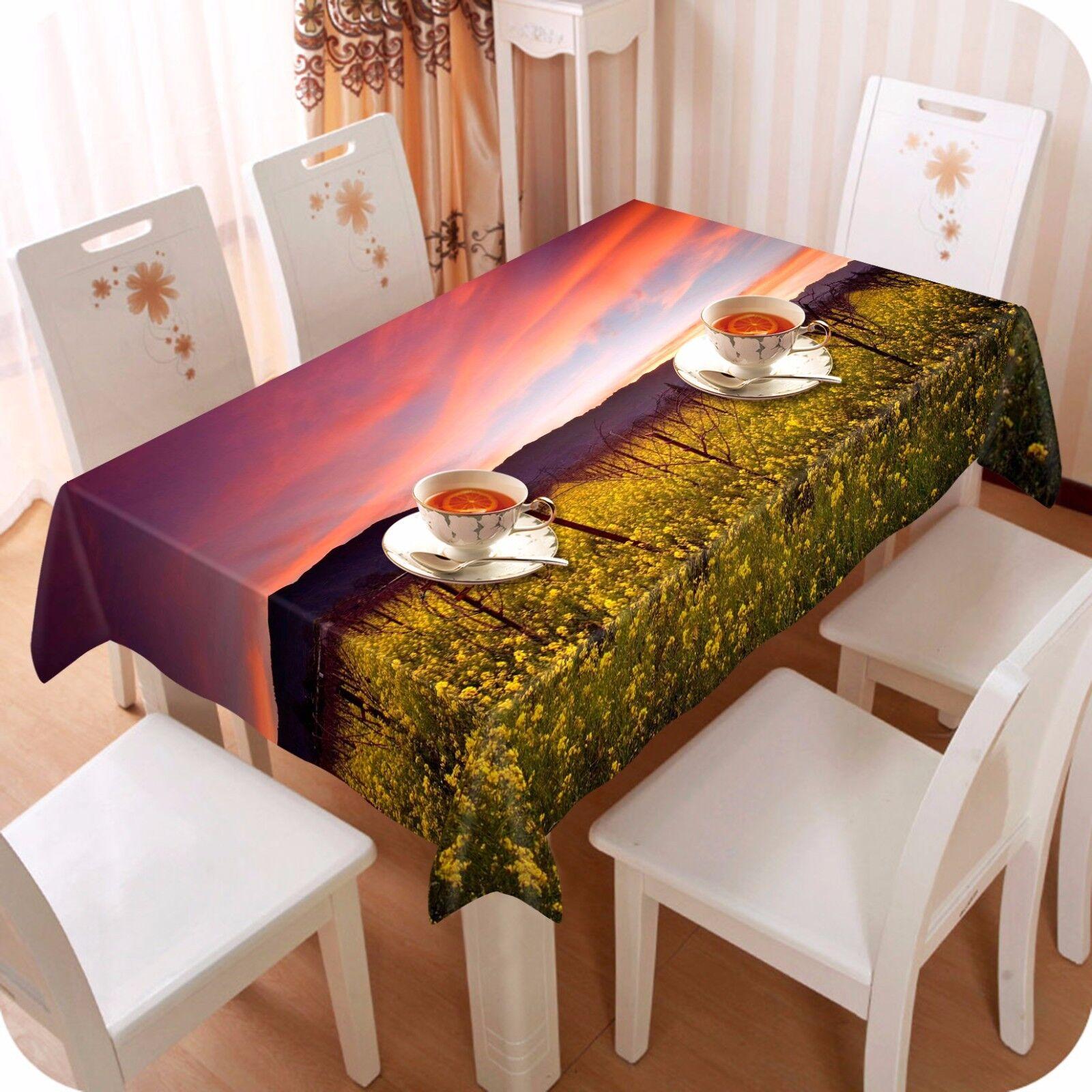 3D RAPE 4 Nappe Table Cover Cloth fête d'anniversaire AJ papier peint Royaume-Uni Citron