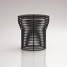 BONALDO tavolino Orion nero piano in cristallo acciaio da caffè salotto D6 70