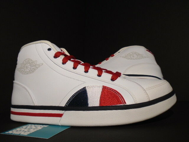 2008 Nike Air Jordan PHLY LEGEND FLY USA OLYMPIC BASKETBALL WHITE BLUE RED DS 12 Brand discount