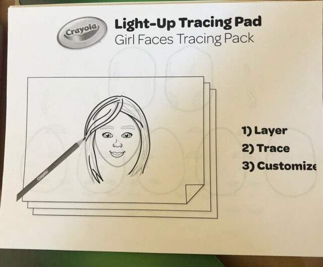 Crayola 04 0908 Light Up Tracing Pad Pink For Sale Online Ebay
