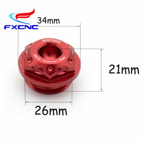 FXCNC Red Engine Oil Filler Cap Tank Cover Yamaha YZF R1 R3 R6 R7 FZ6R FZ6-FZ600