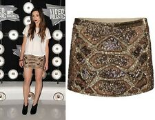 All Saints NWT £165 Python Heavily Embellished Sequin Skirt UK 14 / USA 10 Viper