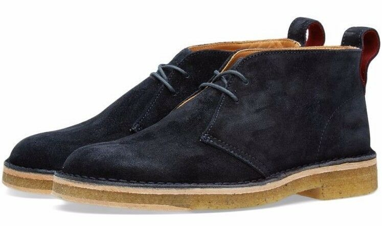Paul Smith Navy Suede Sleater Desert Boots shoes EU44 US11 UK10