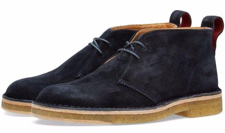 Scarpe casual da uomo  Paul Smith Navy Suede Sleater Desert Boots Shoes EU44 US11 UK10 $375