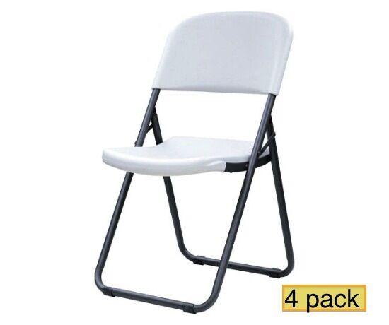 Superb Brand New Lifetime Folding Chairs 80155 White Granite Loop Leg Chair 4 Pack Pdpeps Interior Chair Design Pdpepsorg