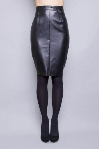 Women/'s Genuine Lambskin Leather Skirt Soft Below Knee Slim fit Skirt LS11 Hot