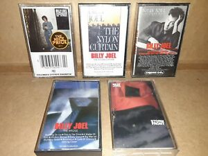 Billy Joel Lot Of 5 Cassette Tapes