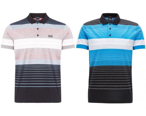 Hugo Boss Green Men/'s Stripes Cotton Polo Paddy 3 Shirt T-shirt 50379129