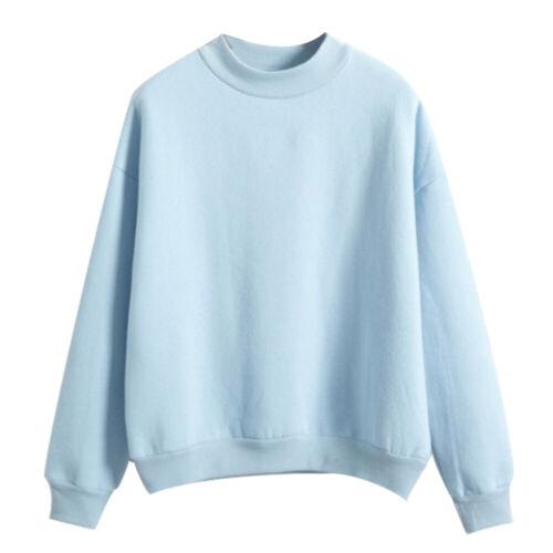 Fashion Women Plain Hoodie Sweatshirt Ladies Casual Sweater Top Jumper Pullover