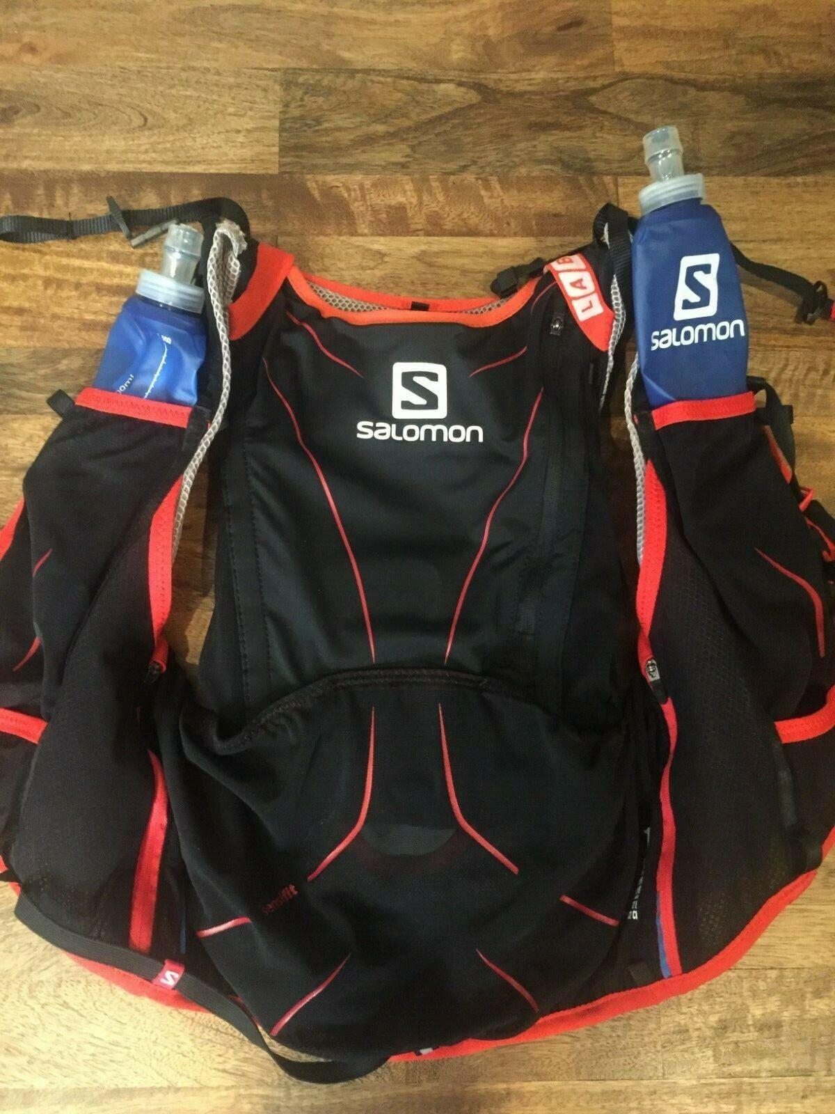 Salomon Unisex ADV Skin 12 Set Running Backpack Yellow Sports Outdoors