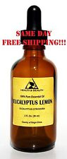 EUCALYPTUS LEMON ESSENTIAL OIL AROMATHERAPY 100% PURE NATURAL GLASS DROPP 2.0 OZ
