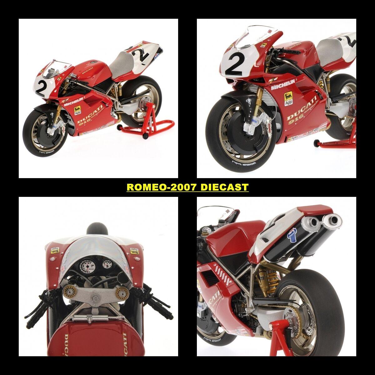 1 12 Minichamps Ducati Carl Fogarty World Champion SBK 1994 122941202 NEW