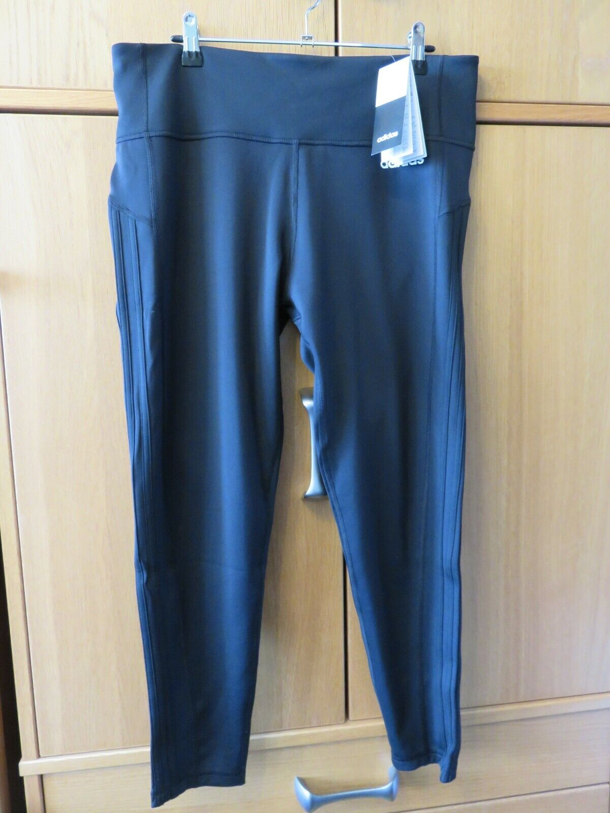 ADIDAS W 3S 7/8 Women's Workout Tights - Black - 7/8 Length - Size S - NEW
