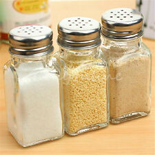 Food Seasoning Salt Pepper Bottle Cruet Pot Spreader Shaker Jar Holder Container