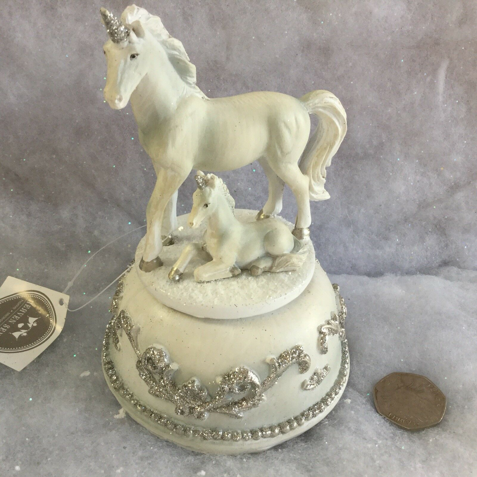 bianca Mother Mother Mother & Baby Unicorn Christmas Music Box Jingle Bells Special Gift Foal c5f3b2