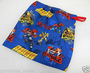Transformers Bumblebee Library Bag Accessory Drawstring Great Gift Idea!