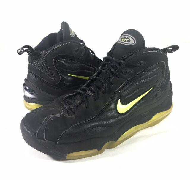 Vintage Nike Air Max Up Tempo Basketball Shoes Mens 12 Rare 1997 Black & Neon