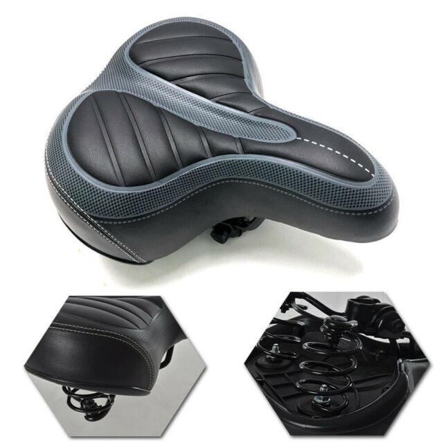 Comfort Wide Big Bum Bike Bicycle Saddle Seat Gel Cruiser Extra Sporty Soft Pad