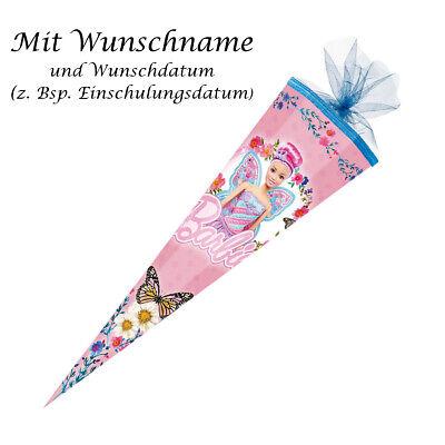 """Schultüte mit pinkgefärbter Gravur 85cm Zuckertüte eckig /""""Deutz Traktor/"""""""