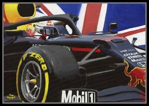 Painting-2020-70-years-F1-Grand-Prix-winner-33-Max-Verstappen-by-Toon-Nagtegaal