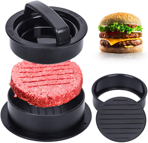 Details about  /3 in 1 Hamburger Patty Maker Works Best for Stuffed Burgers Sliders Barbecue
