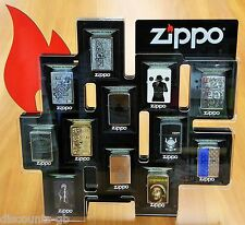 Zippo Counter Display Desk Stand Case + Lock RARE Collection for 12 Lighters