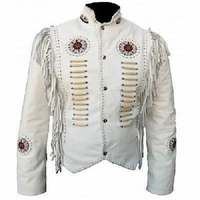 Homme Long Brown occidentale traditionnelle Veste Native American Style Toutes Les Tailles