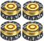 thumbnail 1 - 4Pcs Guitar Volume Tone Control Black Gold Speed Knobs for LP SG Epiphone