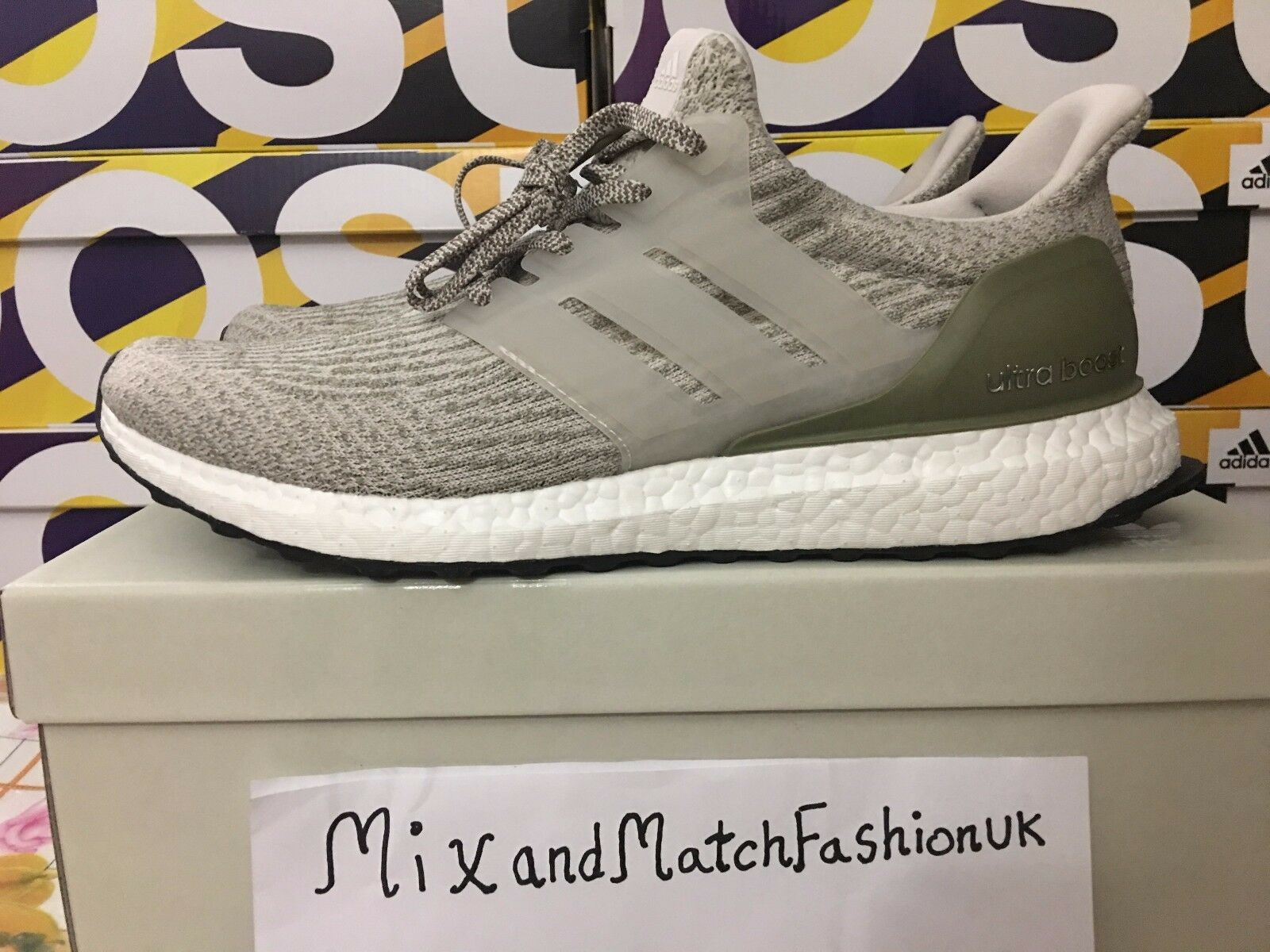 ADIDAS ULTRA BOOST 3.0 Pearl  Gris  Trace Trace Trace Cargo BA88479.5 EU 44 US 10 9b0617