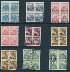Lot-Stamp-Germany-Bohemia-Czech-Blocks-WWII-3rd-Reich-Occupation-Collection-CTO