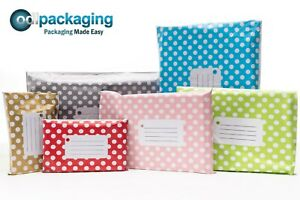 Printed-Polka-Dot-Mailing-Bags-Strong-Self-Seal-Strip