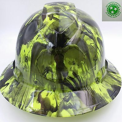 NEW HYDRO DIPPED Hard Hat FULL BRIM CUSTOM OSHA approved COLOR DEATH RIDER