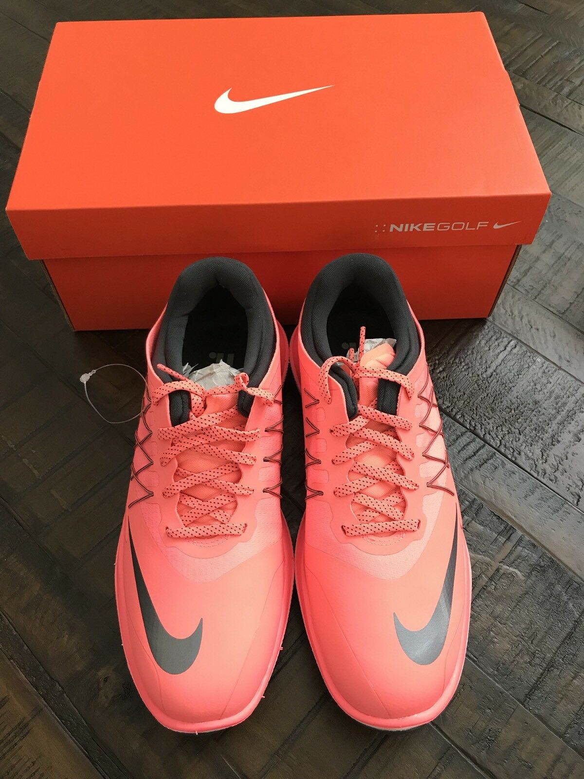 Nike Women's Lunar Control Vapor Golf Shoes Pink Lava Glow Cool Grey - 849979
