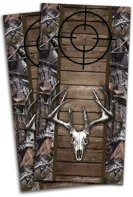 Deer Skull with Camo Cornhole Bag Toss Wrap Set
