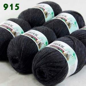 Sale-6-Skeins-x50gr-Soft-Acrylic-Cashmere-Wool-Stoles-Hand-Knit-Crochet-Yarn-915