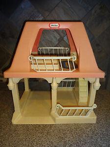 Vintage Little Tikes Dollhouse Loft Garage Guest House Grandparents